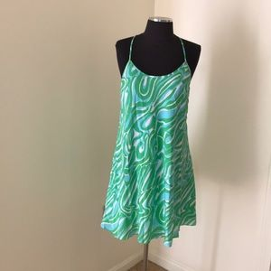Lilly Pulitzer small green flowy silk dress